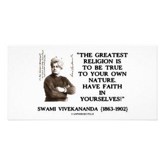 La religión más grande de Vivekananda del Swami Tarjetas Con Fotos Personalizadas
