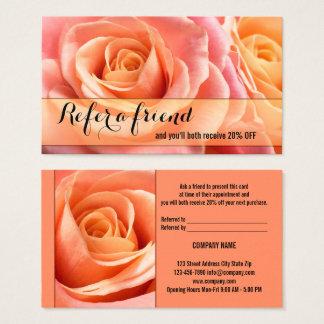 La remisión coralina de los rosas dice una tarjeta