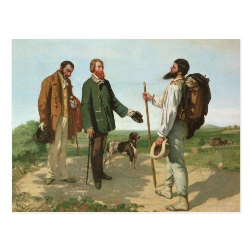 La Rencontre, o Monsieur Courbet, 1854 de Bonjour Postal | Zazzle