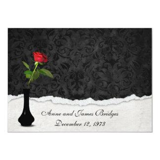 La renovación del voto del rosa rojo invita invitación 11,4 x 15,8 cm