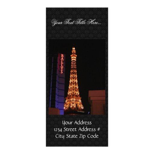 La reproducción de la torre Eiffel en París Las Ve Lona Personalizada