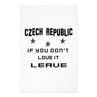 La República Checa si usted no la ama, se va Papeleria De Diseño