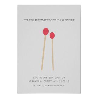 La reserva de la foto del complemento perfecto que invitación 12,7 x 17,8 cm