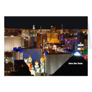 ¡La reserva de Las Vegas la tarjeta de fecha,