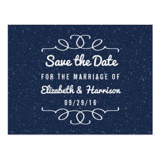 La reserva del boda de la noche estrellada la postal