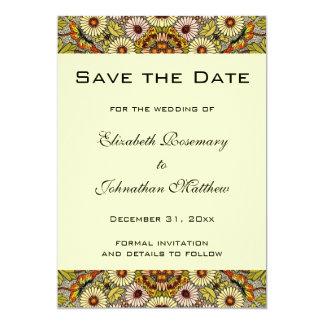 La reserva del vintage el jardín de la fecha invitación 12,7 x 17,8 cm