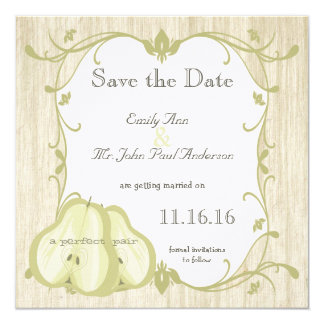 La reserva perfecta de la pera la fecha invitación