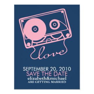 La reserva perfecta del boda de la mezcla la fecha invitación 10,8 x 13,9 cm