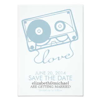 La reserva perfecta del boda de la mezcla la fecha invitación 12,7 x 17,8 cm