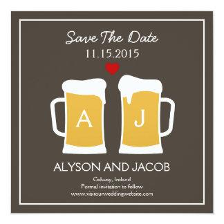 La reserva perfecta del Brew la tarjeta de fecha Invitación 13,3 Cm X 13,3cm
