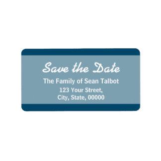La reserva simple la etiqueta de fecha elige su etiqueta de dirección