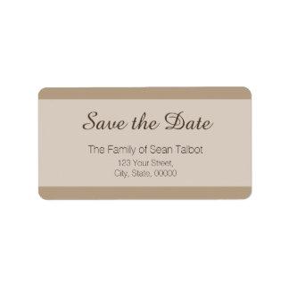 La reserva simple la etiqueta de fecha elige su etiquetas de dirección