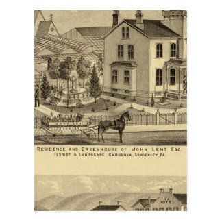 La residencia y el invernadero de Juan prestaron Postal