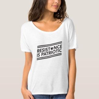 La resistencia es camiseta desgarbada patriótica camiseta