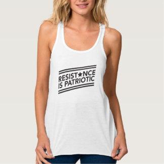 La resistencia es el tanque patriótico de Flowy Camiseta Con Tirantes