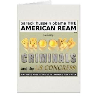 La resma americana tarjeta de felicitación