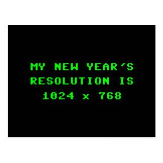 La resolución de pantalla 1024x768 del Año Nuevo Postal