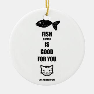 La respiración de los pescados es buena para usted adorno de cerámica
