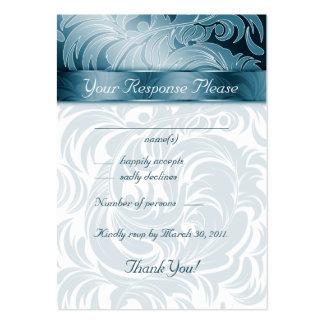 La respuesta elegante del boda carda el trullo de  plantillas de tarjetas personales