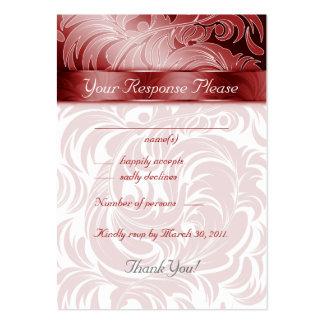 La respuesta elegante del boda carda rojo de la ho plantillas de tarjeta de negocio