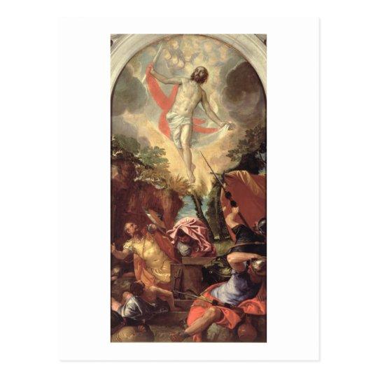 La resurrección de Cristo (aceite en lona) Postal