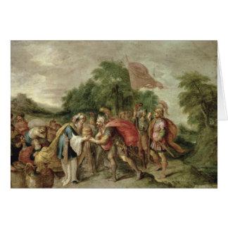 La reunión de Abraham y de Melchizedek Tarjeta De Felicitación