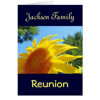 La reunión de familia conocida personalizada carda tarjeta de felicitación