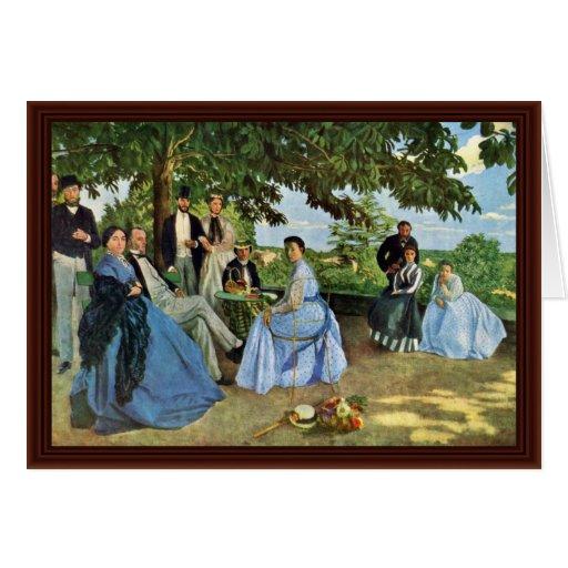 La reunión de familia, por Bazille Frédéric Tarjetón