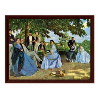 La reunión de familia por Bazille Frédéric Postales