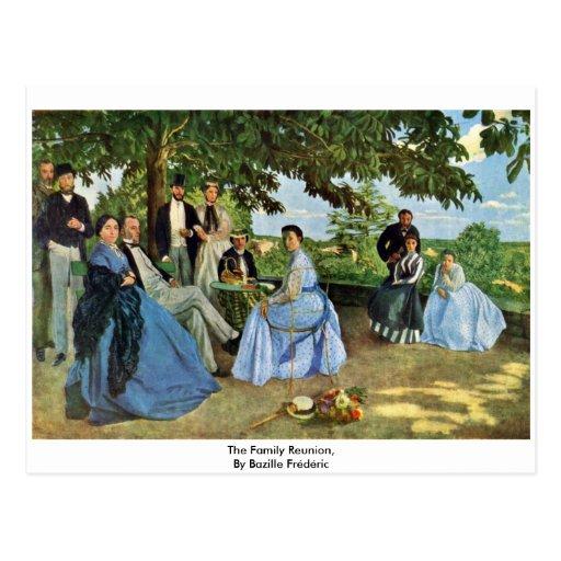 La reunión de familia, por Bazille Frédéric Postales