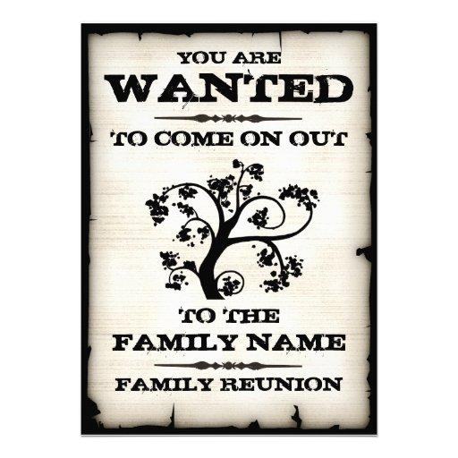 La reunión de familia quiso invitaciones comunicado personal
