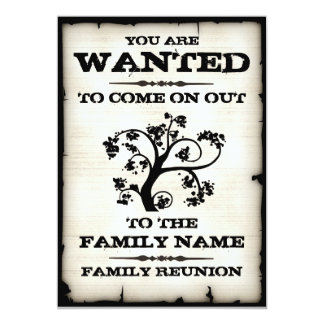 La reunión de familia quiso invitaciones invitación 12,7 x 17,8 cm