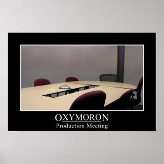 La reunión productiva es un oxymoron (s) póster