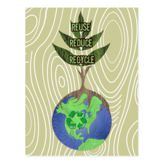 La reutilización reduce recicla postal