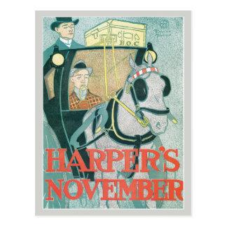 La revista noviembre de Harper del nouveau del Postal