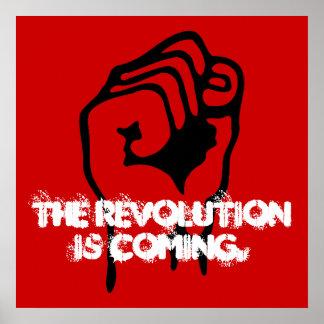 La revolución está viniendo póster