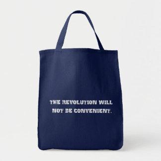 La revolución no será tote conveniente del bolsa tela para la compra