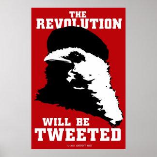 La revolución será poster rojo piado