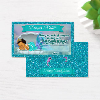 La rifa del pañal de la fiesta de bienvenida al tarjeta de visita