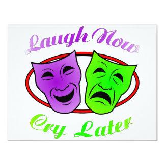 La risa ahora llora máscaras posteriores comunicado personal