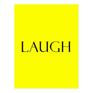 La risa cita cita inspirada amarilla de la risa postal