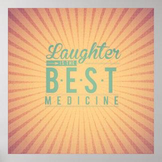 La risa es el mejor trullo del beige del vintage d posters