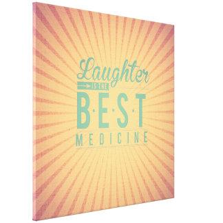 La risa es la mejor medicina, moda de la lona del impresión de lienzo