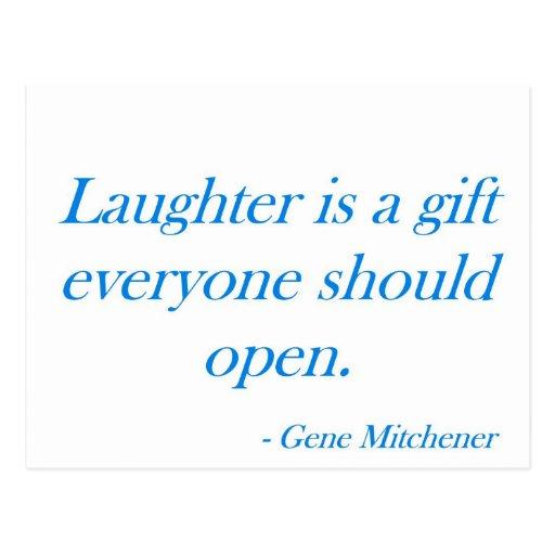 La risa es un regalo… tarjeta postal