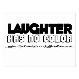 La risa no tiene ninguna mercancía del color tarjeta postal