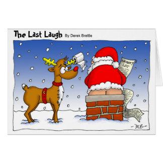La risa pasada - tarjeta de Navidad