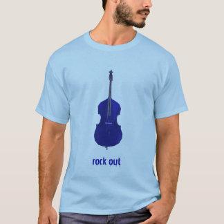 La roca baja hacia fuera junta con te camiseta