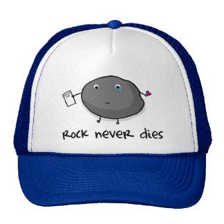 La roca nunca muere casquillo gorros bordados