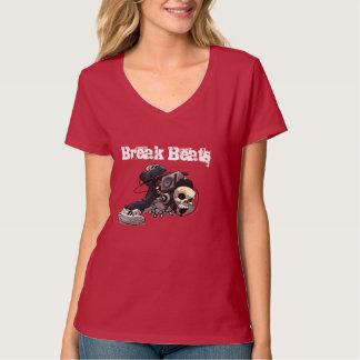 La rotura bate el cráneo de Basshead Camiseta