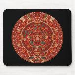 La rueda (azteca) maya del calendario alfombrillas de raton